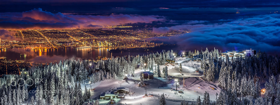 Photograph Vancouver city Panorama from the summit of Grouse Mountain by Pierre Leclerc on 500px
