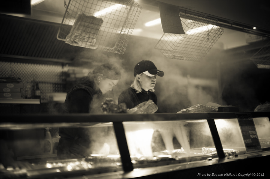 Photograph Chelsea Stadium, London, Food Stand, London by Eugene Nikiforov on 500px