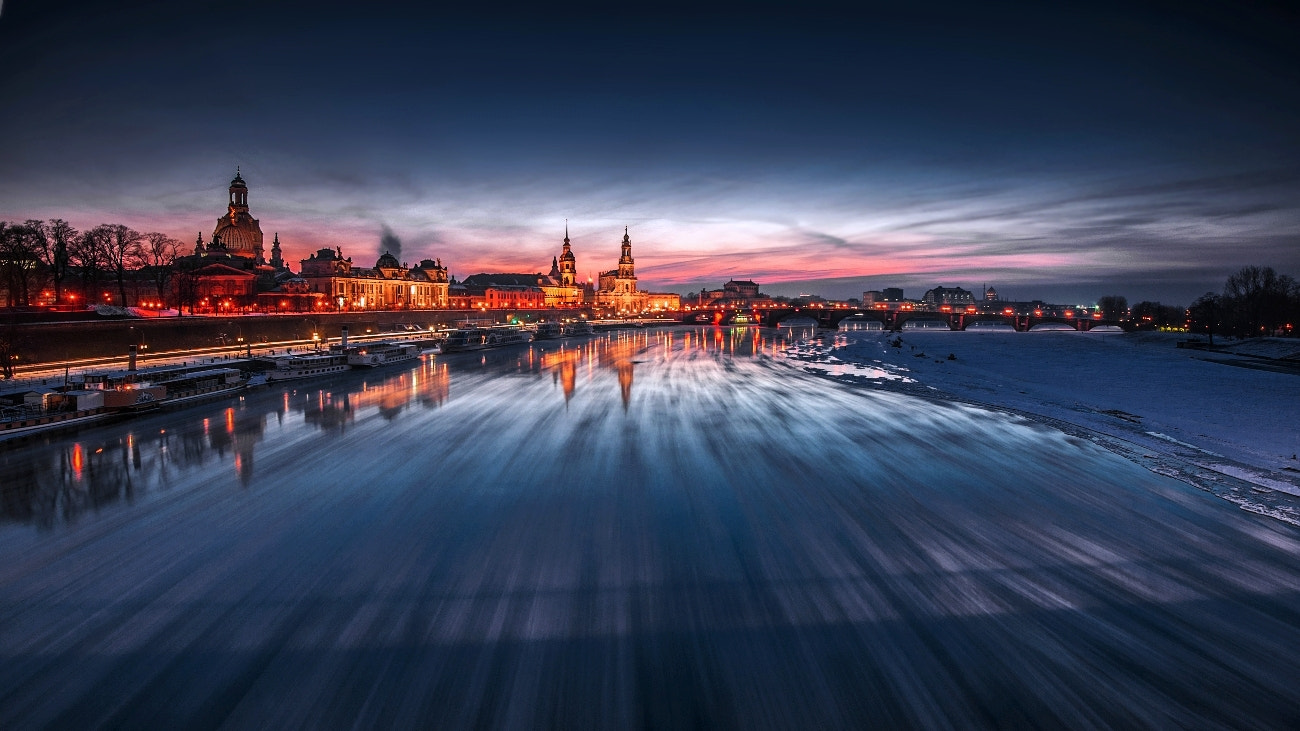 Photograph DRESDEN (Ice floes on the river Elbe) by TOMÁŠ MORKES on 500px