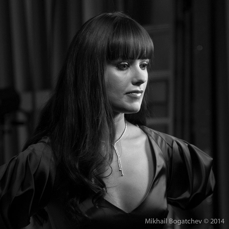 Oksana Fedorova, backstage