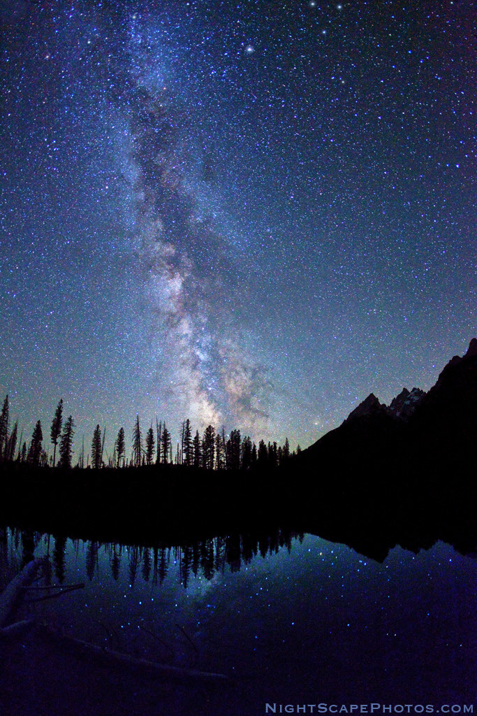 Photograph Milky Way over String Lake, Grand Tetons by Royce's NightScapes on 500px