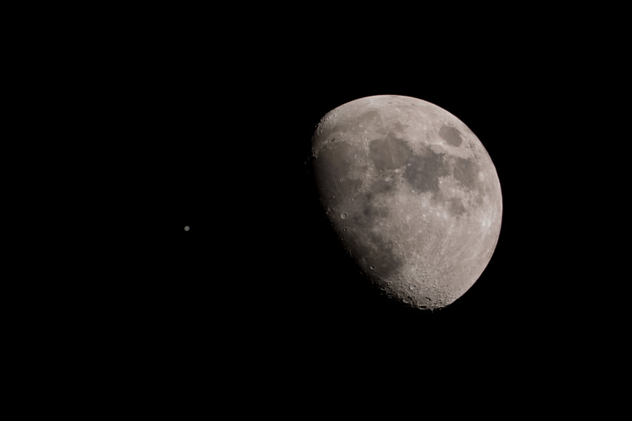 The Moon and Jupiter by John Visser on 500px.com