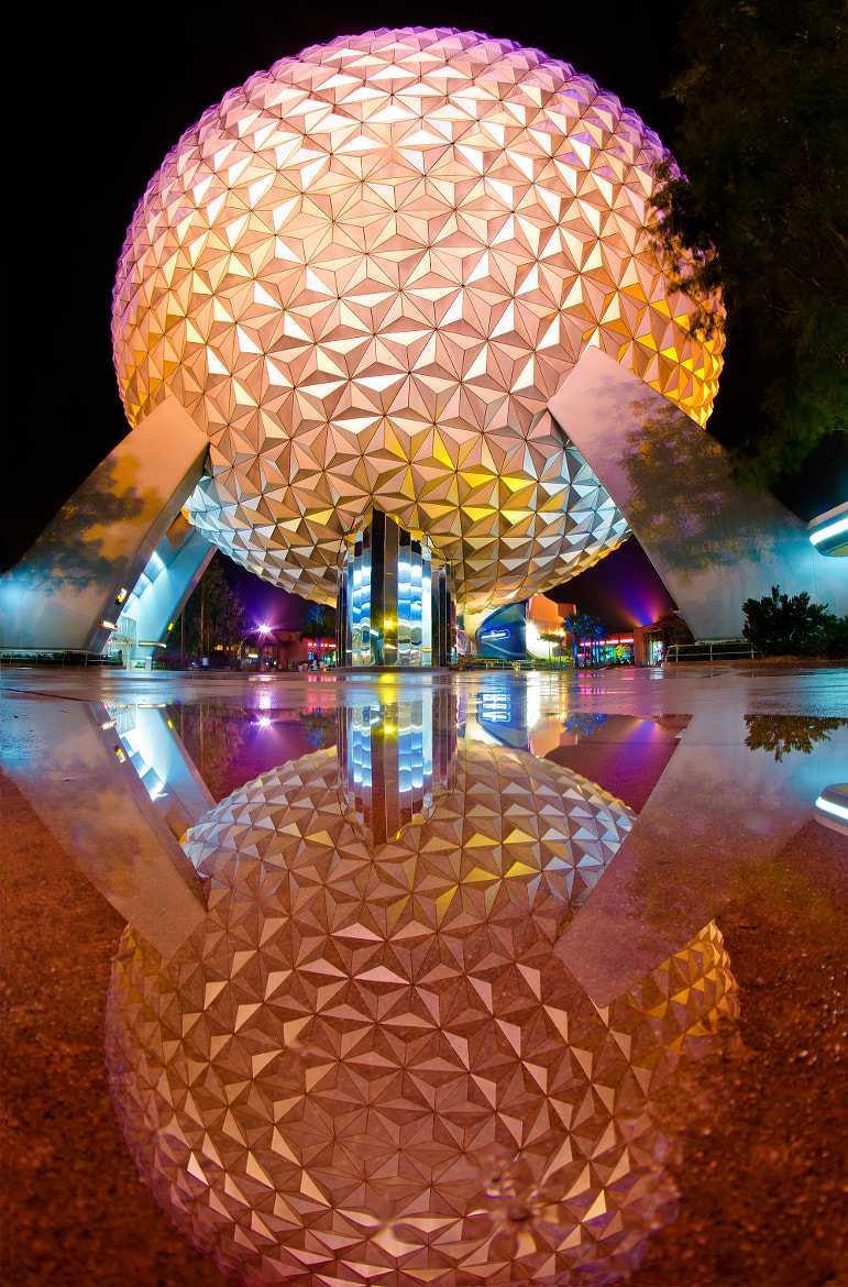 Photograph Epcot - Spaceship Earth Reflection by Tom Bricker on 500px