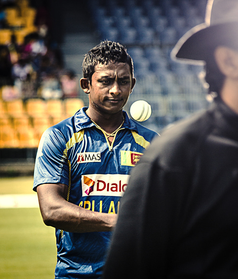 Ajantha Mendis Warms Up at the Kettarama by Son of the Morning Light  on 500px.com