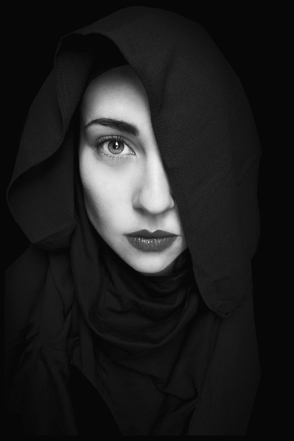Black and white portraits - Photograph Black is my colour.. by Marianna Roussou on 500px