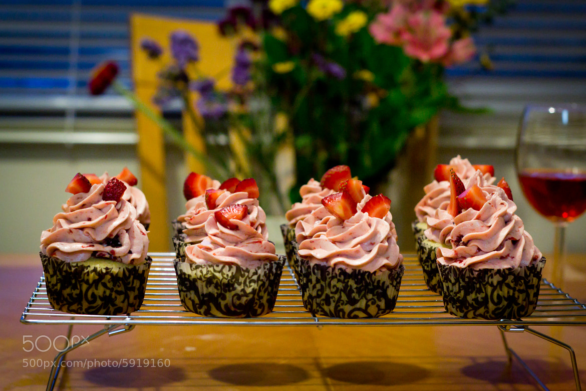 Photograph Homemade Strawberry Cupcakes by Jorja Hudson on 500px