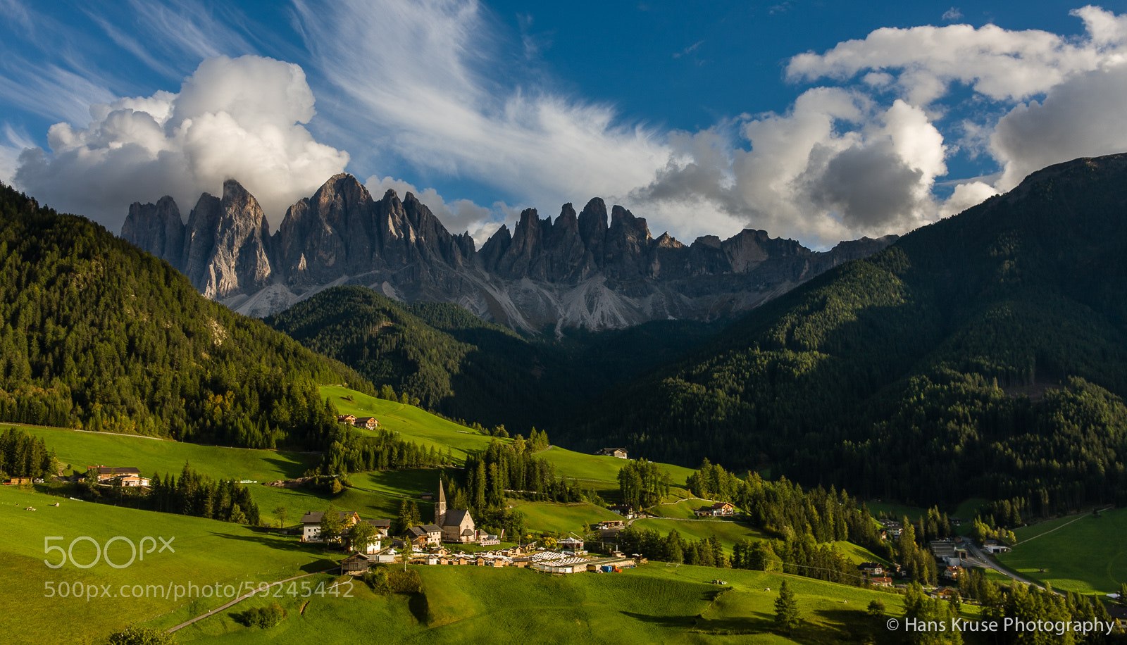 Photograph Santa Maddalena and Odle mountain peaks by Hans Kruse on 500px