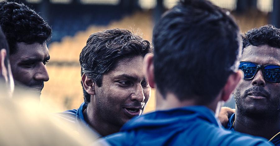 Team Huddle - Kumar Sangakkara & Angelo Matthews by Son of the Morning Light on 500px.com