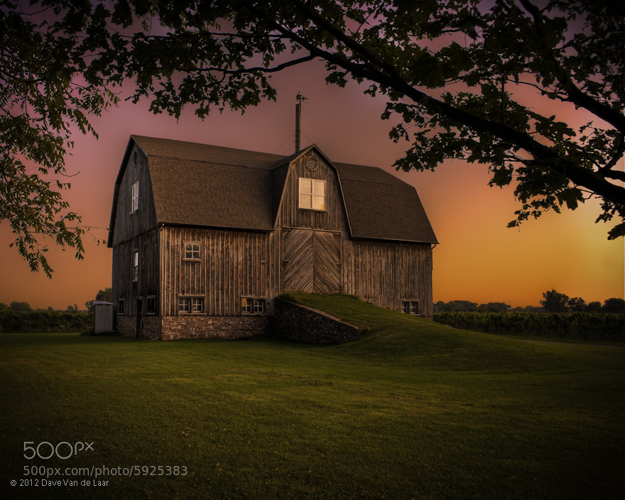 Photograph HDR Barn at sunset by Dave Van de Laar on 500px