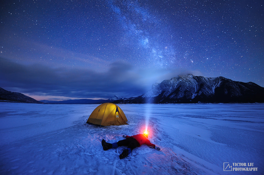 Abraham lake star gazing by victor Liu on 500px.com