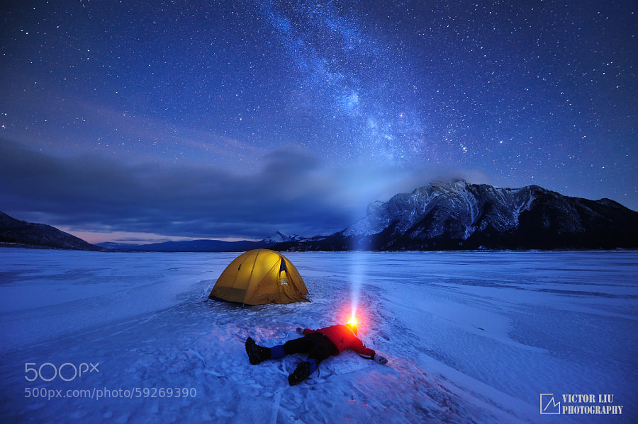 Photograph Abraham lake star gazing by Victor Liu on 500px