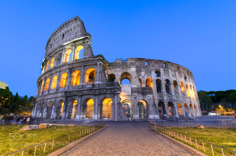Photograph Colosseum at blue huor! by Alireza Behrooz on 500px