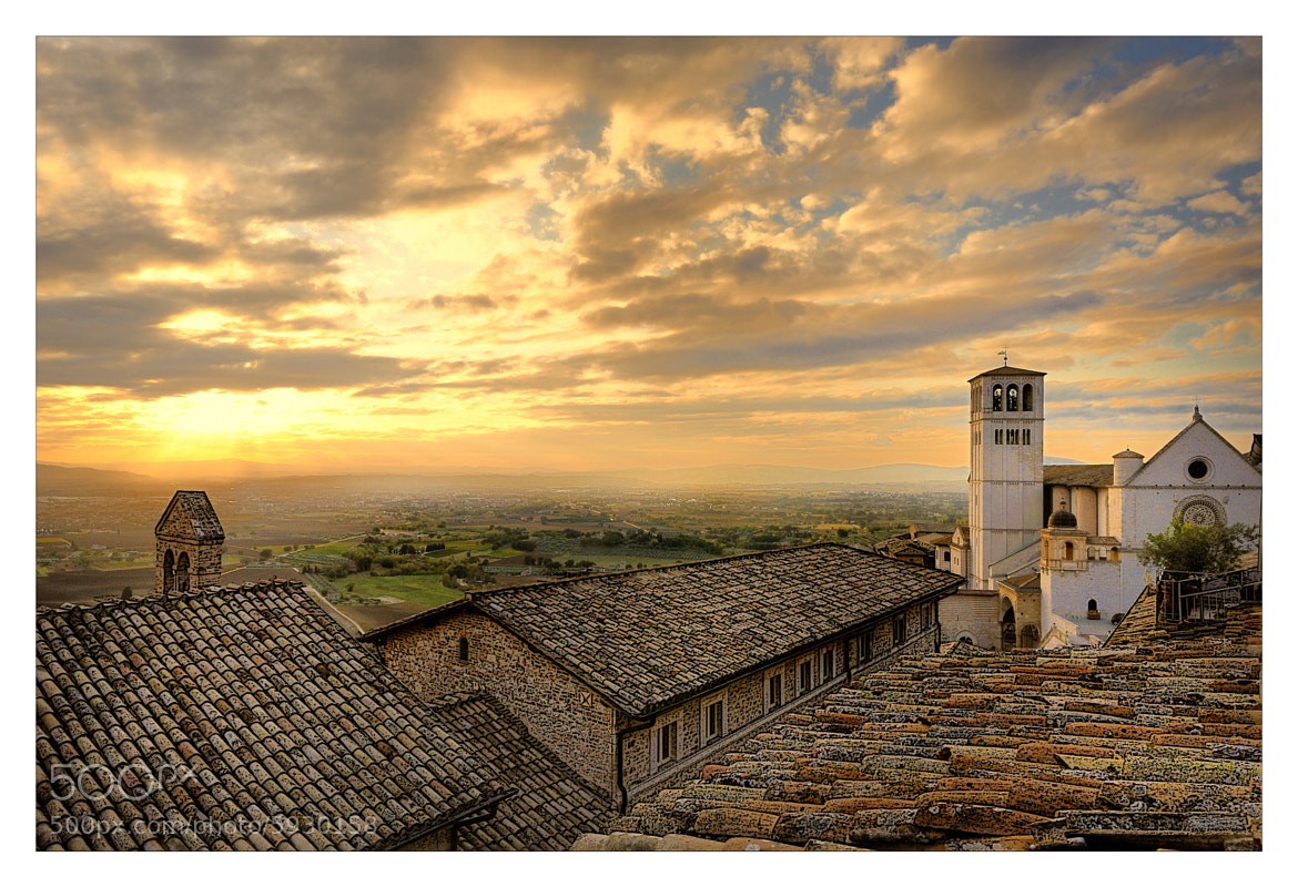 Photograph Sunset in Assisi by mauro maione on 500px