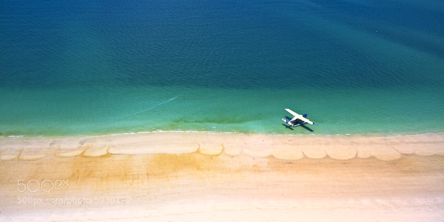 Private plane and the beach by Stanley Kozak (stanleykozak) on 500px.com