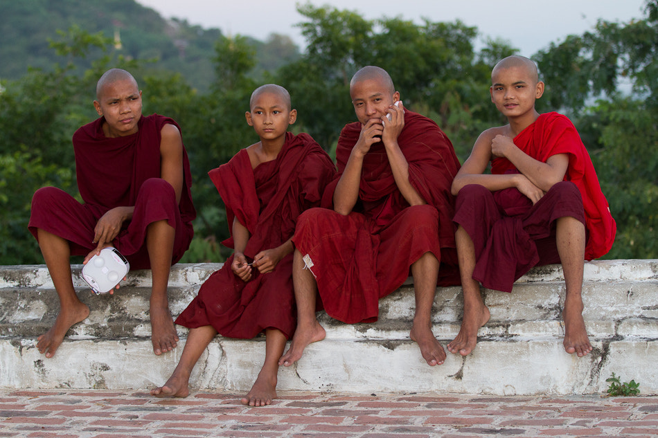 Photograph Young Monks in Sagaing by Dmitry Dzema on 500px