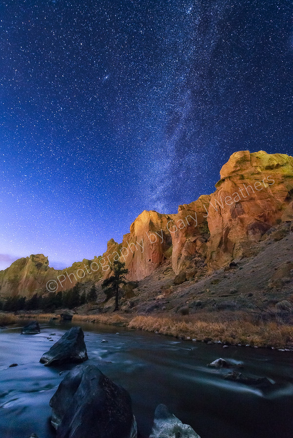 Photograph Milky Way Over Crooked River by Gary Weathers on 500px