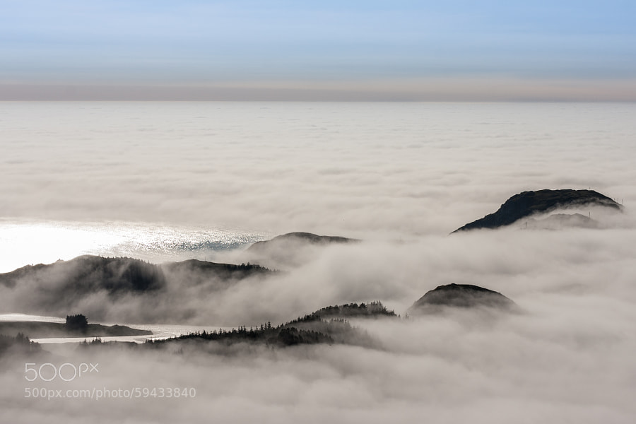 Krakenes in an ocean of clouds