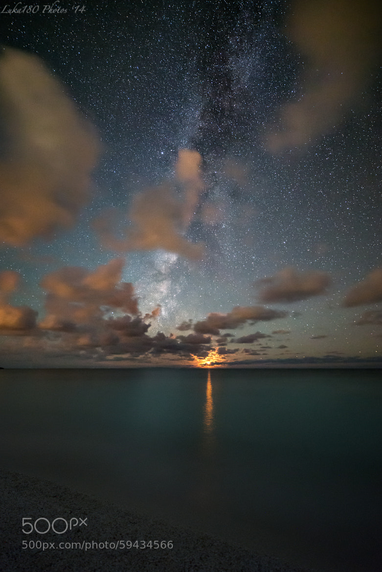 Photograph Moonset & Milkyway by Luka180 S. on 500px