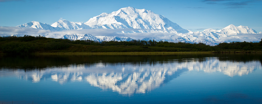 Denali From Reflection Pond by Zach Brown on 500px.com