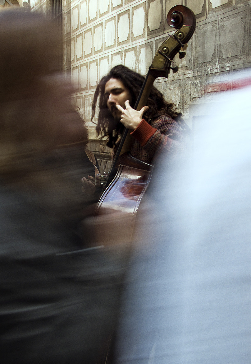 Photograph Street musician by Camille  Becdach on 500px