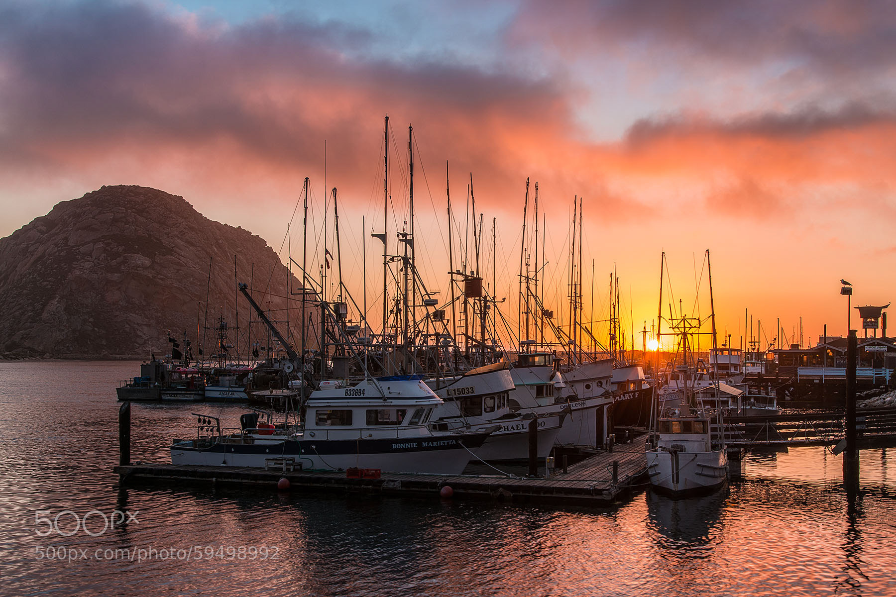 Photograph morro bay sunset by chuck zamites on 500px for Deep sea fishing morro bay