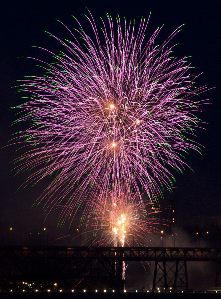 Photograph Canada Day Fireworks by Morgan Kan on 500px