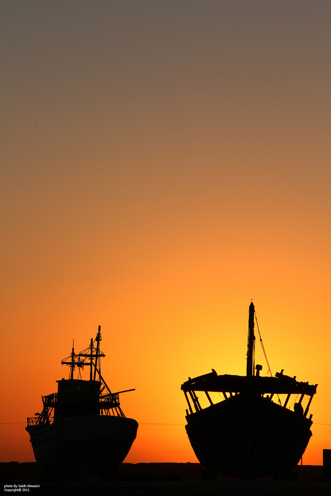 Photograph Silhouette Boats by saleh almozini on 500px