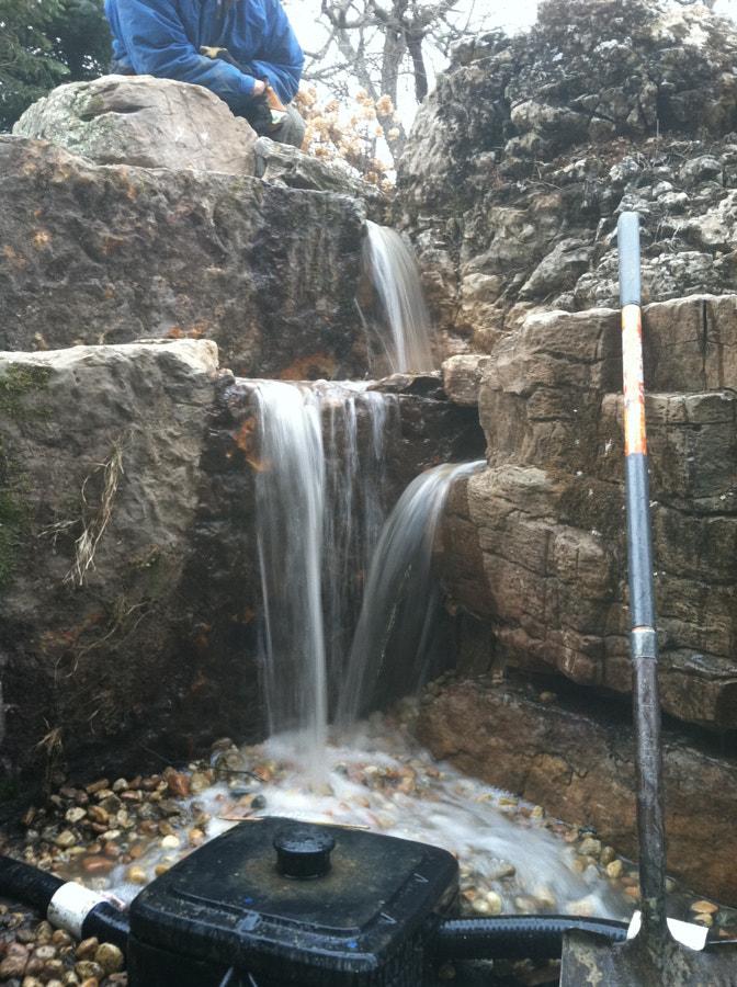 Window Well Pondless Waterfall