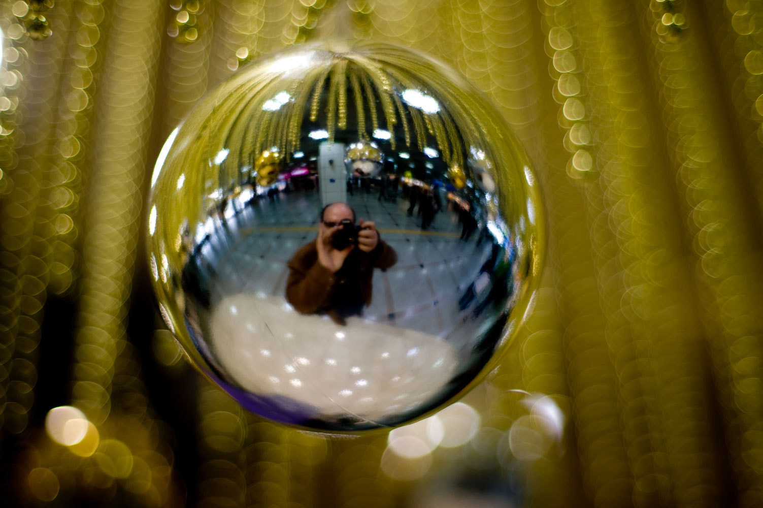Photograph christmas decoration reflection  by Derek Winchester on 500px