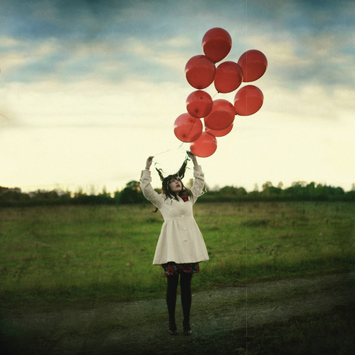Photograph Girl With 11 Red Balloons by James Docherty on 500px