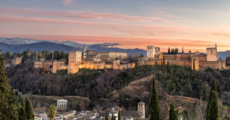 Photograph Alhambra at dusk by Carlos Luque on 500px