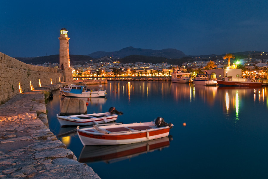 Photograph Rethymno bay at night by Bart Hoga on 500px