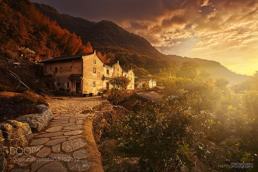 Photograph Sunset in Old Village by Henry Wang on 500px
