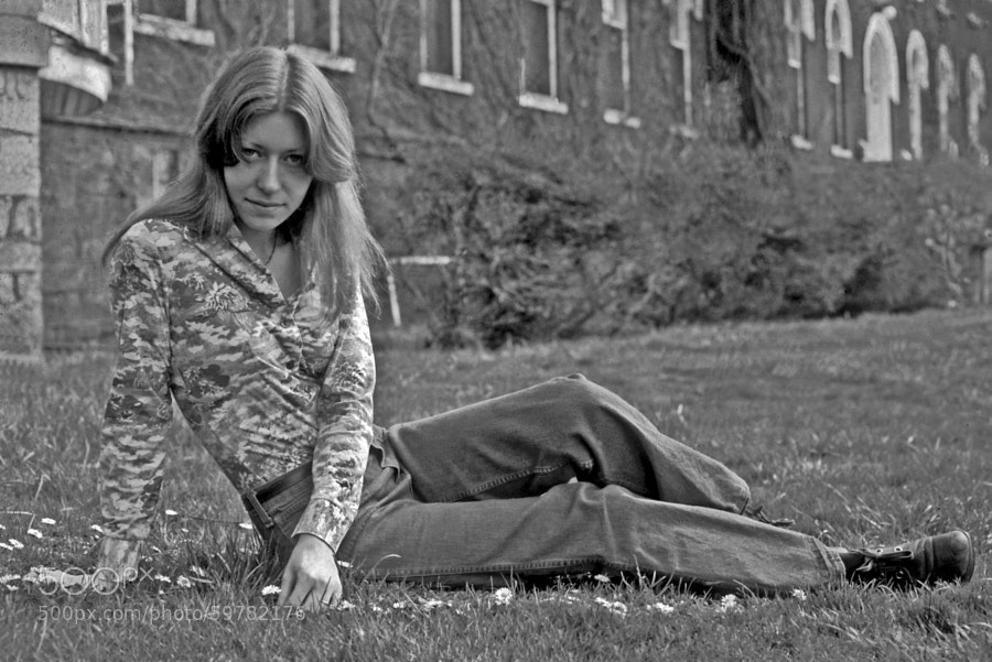 Found this old Ektachrome slide while rummaging through old slides.  It is in pretty bad shape so I removed the color and went with black and white.  Tina was and still is my favorite model.  She looks just as good today as she did in '75.