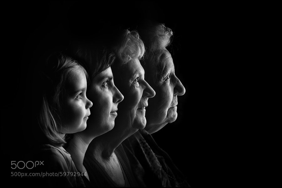 Photograph Four Generations by Mattie Aarts on 500px