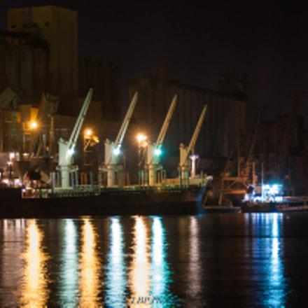 Chargement dans le port de Rouen