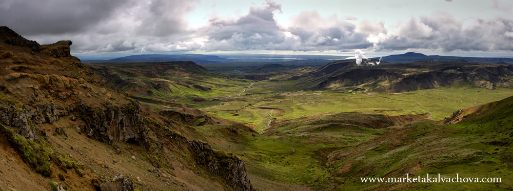 Photograph Panoramic view of Hengill volcanic area, Iceland by Marketa Kalvachova on 500px