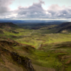 Постер, плакат: Panoramic view of Hengill volcanic area Iceland