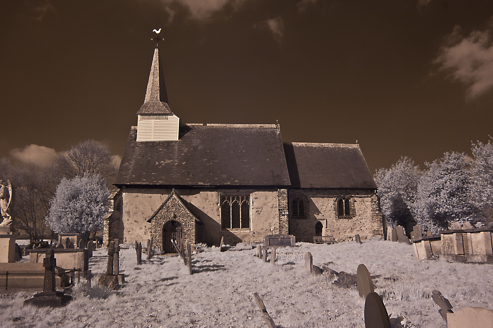 Photograph Little Burstead Church (In Infrared) by Steven Ellis on 500px