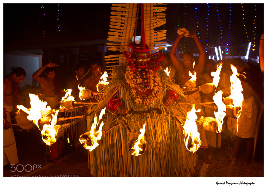 Photograph Agni Kandakarnan Theyyam by Ganesh Payyanur on 500px