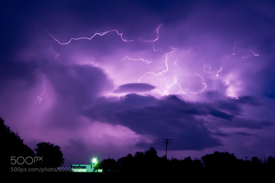 I'd been looking for my chance to capture some really cool lightning and this night of storm chasing on the eastern plains finally paid off.  I didn't just find lightning, I found crazy lightning!  And I was really impressed with how much purple came straight out of the camera.  This big cell was moving east into Nebraska (away from me) as I got this 30 second long exposure from a little farm near Holyoke, Colorado.