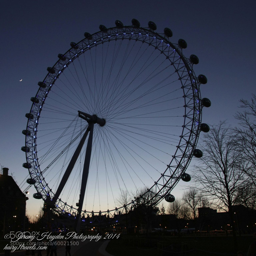 London Eye and New Moon