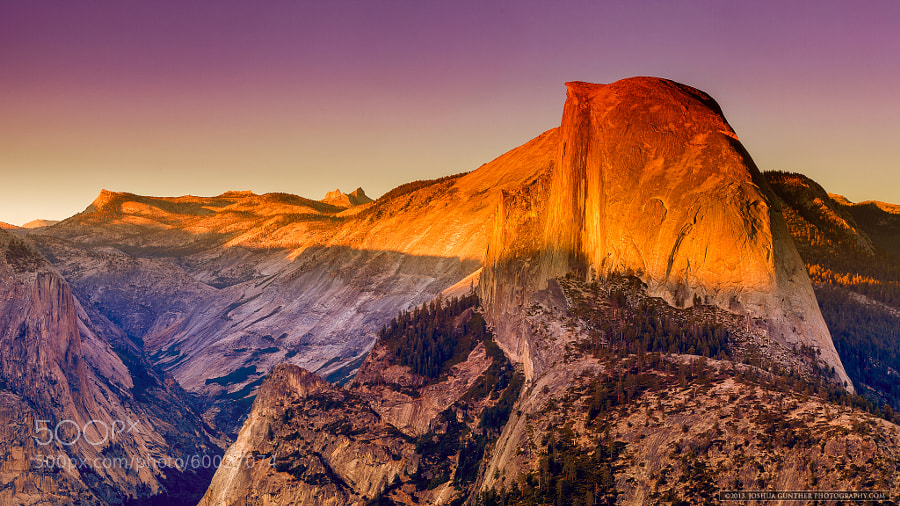 Half Dome Sunset - Yosemite by Joshua Gunther on 500px.com