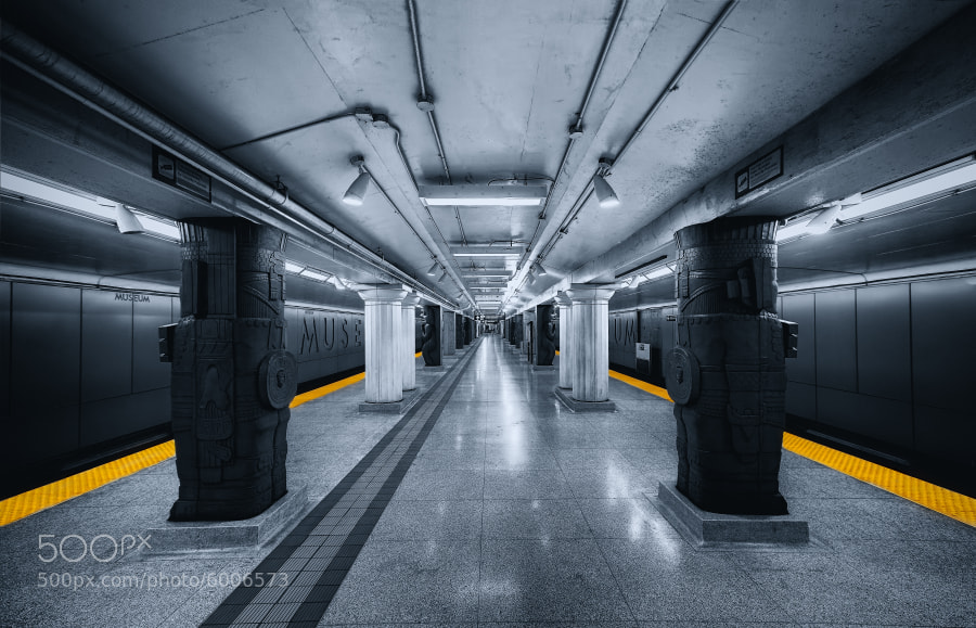 Museum Subway Station  by Roland Shainidze on 500px.com