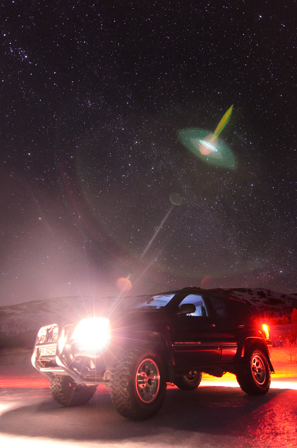 Jeep Under Stars