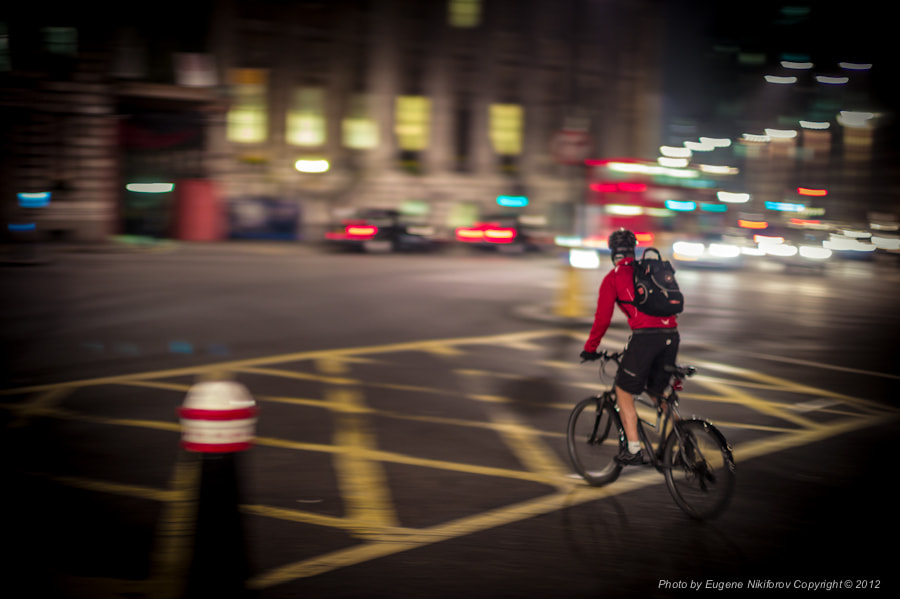 Photograph Cyclist, London by Eugene Nikiforov on 500px