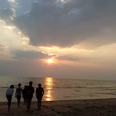 Sunset with my friends.