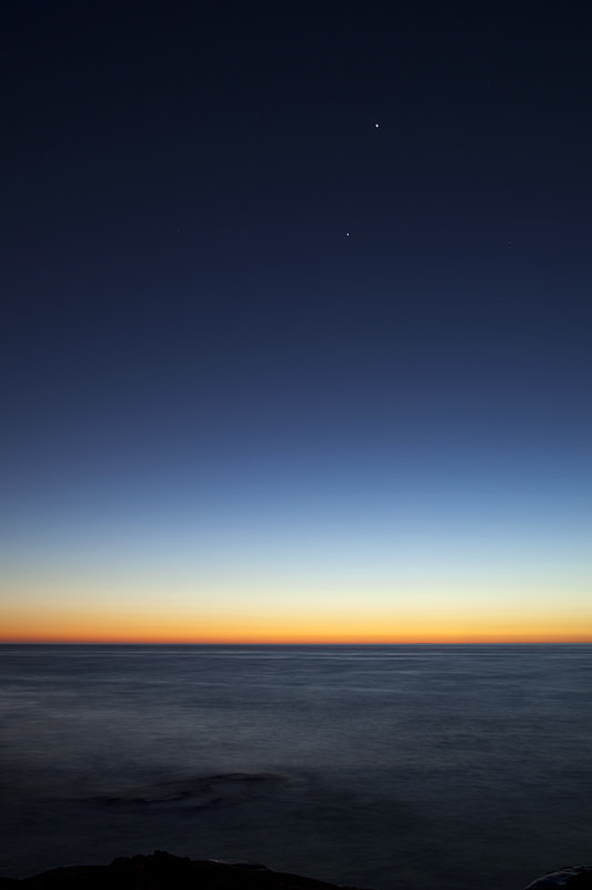 Photograph Venus, Jupiter, and the Sea by Steve Shuey on 500px
