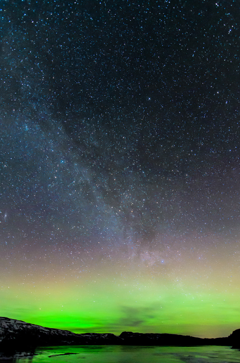 Photograph Milkyway and Aurora 2 by Kolbein Svensson on 500px