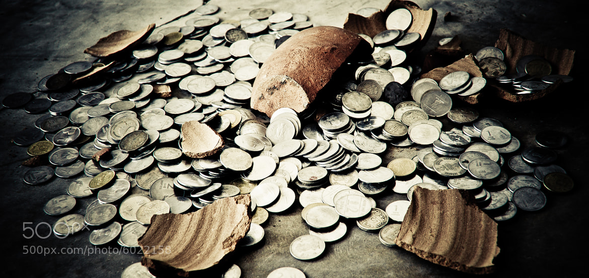 Photograph Penny Bank..;) by whako moody on 500px